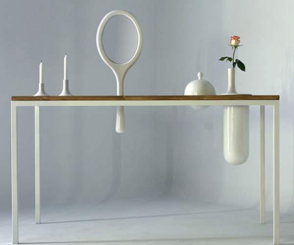 Обеденный стол с керамическими плагинами Plug-In.